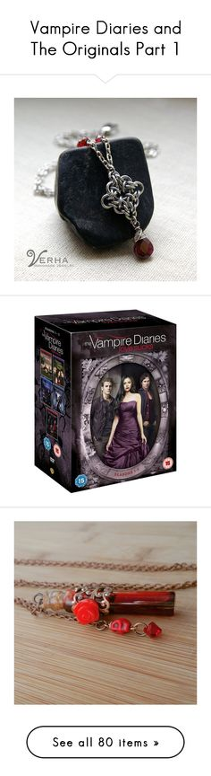"""Vampire Diaries and The Originals Part 1"" by allie-19 ❤ liked on Polyvore featuring jewelry, necklaces, garnet jewellery, garnet necklace, garnet jewelry, movies, home, home decor, rustic home accessories e skull home decor"