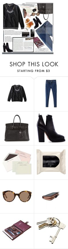 """Bhalo"" by sinsnottragedies ❤ liked on Polyvore featuring Hermès, Jeffrey Campbell, H&M, Illesteva, Folio, Stop Staring!, CB2 and bhalo"