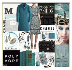 """""""TEAL PASSION: Chanel"""" by polyvore-suzyq ❤ liked on Polyvore featuring Chanel, STELLA McCARTNEY, Kori, Miguel Ases, Shoshanna, LE VIAN, J.Crew, Jimmy Choo, Ashley Pittman and Balenciaga"""