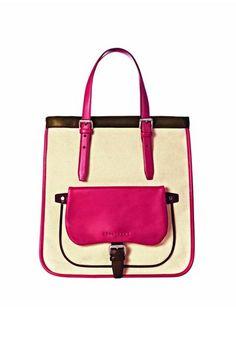 Office-Styling: Big Shopper aus Canvas und Leder, von Longchamp, um 520 Euro
