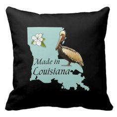 Louisiana Square Throw Pillow