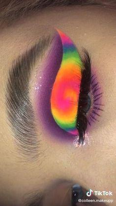 Crazy Eye Makeup, Dope Makeup, Creative Eye Makeup, Colorful Eye Makeup, Eye Makeup Art, Anime Eye Makeup, Makeup Artistry, Makeup Morphe, Contour Makeup