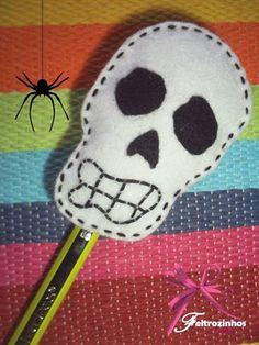 Coleção de Halloween aplicação para lápis ♥ Feltrozinhos e LoLitas ♥ _*www.facebook.com/flolitas*_