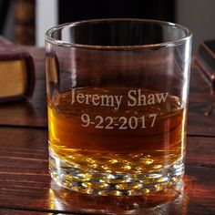 He is sure to love this classic etched glass on his birthday!