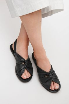 COS image 4 of Flat sandal with twisted knot in Black
