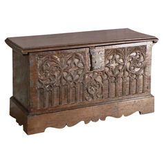 Gothic Coffer / Chest | From a unique collection of antique and modern blanket chests at http://www.1stdibs.com/furniture/storage-case-pieces/blanket-chests/ 1500s