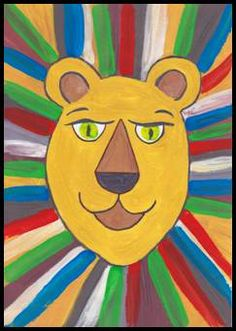 Barevný lev