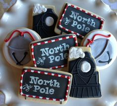 Polar Express Sugar Cookie Collection by NotBettyCookies on Etsy, $42.00
