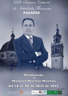 Los grandes del flamenco homenajearán al crítico Manolo Martín en Paradas