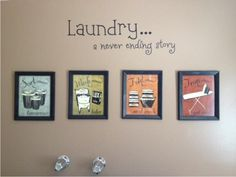 I never thought of decorating my laundry room -- but this is adorable!