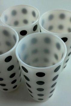 black and white polka dot glasses
