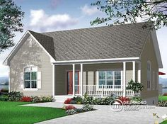 Looking for a small & affordable bungalow designed for baby-boomers ?   Take a look at this plan ...  http://www.drummondhouseplans.com/house-plan-detail/info/1002917.html