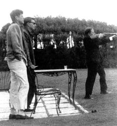 Gore Vidal, J.F.K., and Tennessee Williams With a Gun. ( no excuse needed to pin this one)
