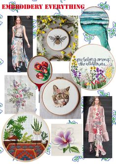 #design #studio #fashion #fashionshow #fashionista #fall #trend #board #2017 #ready #to #wear #alexandermcqueen #embroidery #print #printdesign #textile #designer #color #blue #red #animals #cats #bee #floral #flowers #2017 #ready #to #wear #yellow #carpet #tulip #rose #sea #green