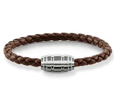 Thomas Sabo Bracelet Rebel At Heart Leather Brown Silver 19cm | C W Sellors Fine Jewellery and Luxury Watches