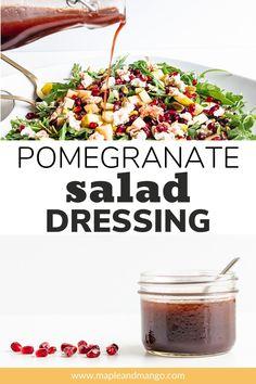 Salad Dressing Recipes, Salad Dressings, Salad Recipes, Pomegranate Vinaigrette, Vinegar And Honey, Summer Salads, Sauces, Mango, Fall Winter