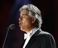 Andrea Bocelli ~ his voice pours out of him like liquid gold:  pure, full and enveloping.  Heaven!
