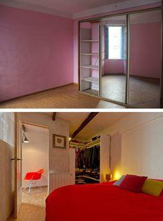 La chambre avant et après por Atelier RnB