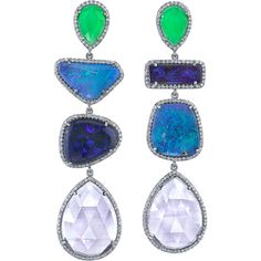 Irene Neuwirth Diamond Collection   Multi Drop Earrings with Diamonds