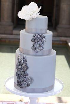 Silver Jewel & Peony Cake