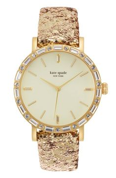 Kate Spade gold sparkle watch | buy it here: http://rstyle.me/n/sv835sque