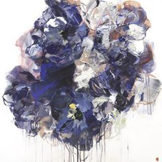 Bobbie Burgers floral painting at Bau-Xi Gallery