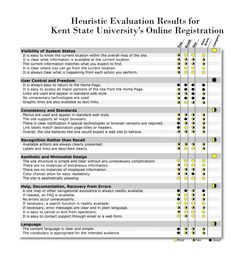 Heuristic Evaluation  Information Visualization    Ux