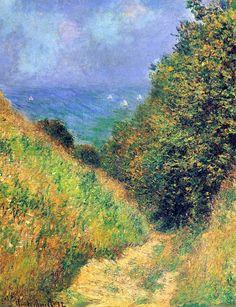 Claude Monet. Path at Pourville 2 (1882).