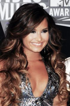 hair styles for long hair long hairstyles   demi lovato hair I love you <3