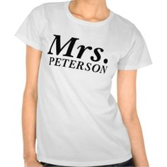 Mrs. Front Just Married Back Tee Shirts #Personalized #tshirt