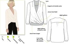 A new twist on the wrap top, this is a very flattering and easy to wear top