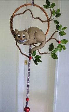 Nursery Mobile - 'Cheshire-Cat' by Lilliput Loft'