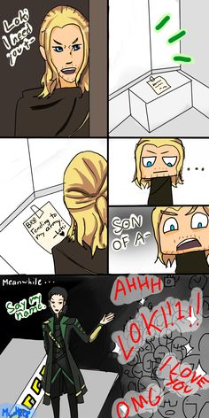 Brb by AkatsukiMudkip.deviantart.com on @deviantART| This is what happened when Thor went to get Loki's help