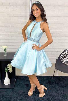 a252ec83fbcf 7 melhores imagens de Vestidos azul Tiffany curto em 2018   Vestido ...
