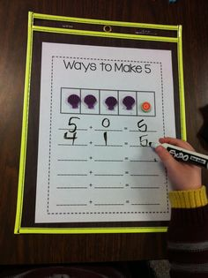 Ways to Make… - Kristens Kindergarten Education Quotes For Teachers, Quotes For Students, Education College, Elementary Education, Kindergarten Morning Work, Kindergarten Math, Teaching Math, Decomposing Numbers, Video Games For Kids