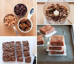 How to Make 3 Ingredients Energy Bars - Cooking - Handimania Granola Barre, No Bake Granola Bars, Raw Food Recipes, Snack Recipes, Cooking Recipes, Snacks, Healthy Recipes, Superfood, 3 Ingredient Recipes