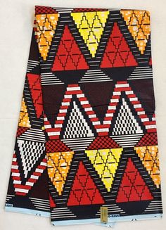 Your place to buy and sell all things handmade - House of Mami Wata African Print Fabrics: African Print Fabric/Ankara – Red, Orange, Yellow, Navy - African Colors, African Patterns, African Textiles, African Prints Fabric, African Style, Textile Patterns, Print Patterns, Embroidery Patterns, African Inspired Fashion