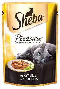 Корм для кошек Sheba Pleasure курица кролик, 85 г