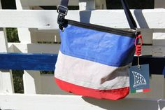 #Sail shoulder strap #bag - color dacron #blue #red  #madeinitaly #handmade