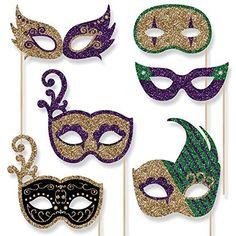 Mardi Gras Masks Set - Mardi Gras Photo Booth Props Masks... https://www.amazon.com/dp/B01AKD67TE/ref=cm_sw_r_pi_dp_x_-y2SxbPMCEZ10