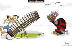 Charge do Dum (Zona do Agrião) sobre Cruzeiro x Flamengo (15/07/2017) #Charge #Dum #Futebol #Cruzeiro #Flamengo #Brasileirão #Campeonato #Brasileiro #CampeonatoBrasileiro #Mineirão #HojeEmDia