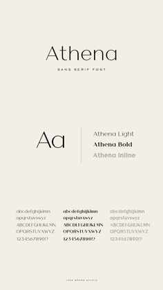 Athena sans-serif font with various weights Typography Love, Typography Letters, Graphic Design Typography, Branding Design, Letter Fonts, Japanese Typography, Calligraphy Letters, Typography Poster, Graphisches Design
