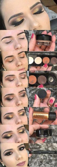 Maquiagem para madrinha de casamento passo a passo completo, maquiagem com brilho - luiza gomes eucapricho
