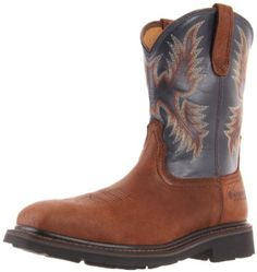 Ariat Men's Sierra Wide Square Toe St Boot,Brown/Russet/Blue,7 M US Ariat. $149.95