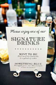 Signature Wedding Drinks