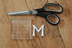 DIY Monogrammed Gift Wrap