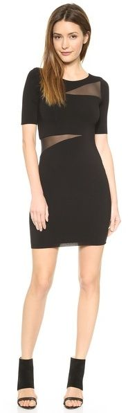 Love this chic LBD with sheer cut outs!