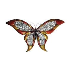 Cheungs Metal 51.5 inch wide colored butterfly