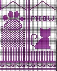 Bilderesultat for pattern for cat mittens Crochet Mittens Free Pattern, Crochet Scarf Easy, Crochet Dolls Free Patterns, Knit Mittens, Knitted Gloves, Knitting Charts, Knitting Patterns, Gato Crochet, Crochet Wrist Warmers