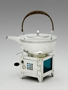 Tea Kettle and Stand Copy after a design by Jan Eisenloeffel Made by Metcalf and Company 1912-15